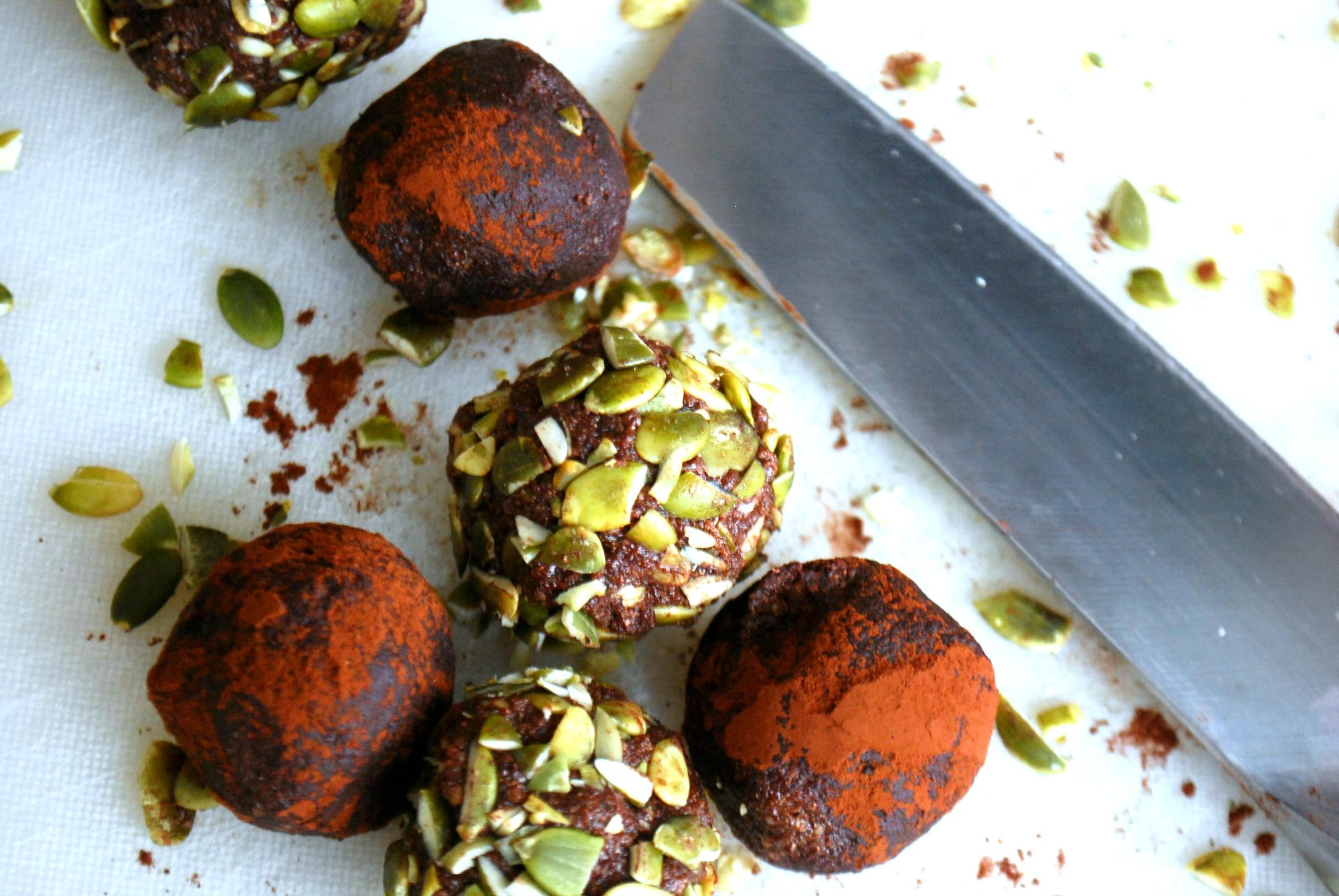 Chokladbollar, utan nötter och mandlar