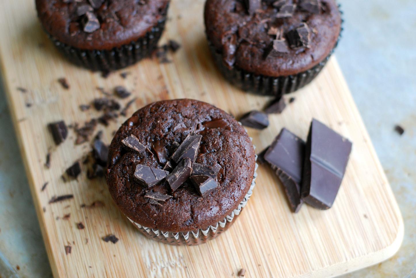 Chokladmuffins utan mjöl
