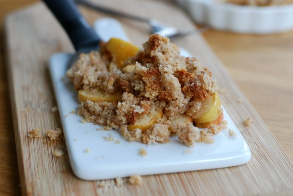Smulpaj med äpple och kanel
