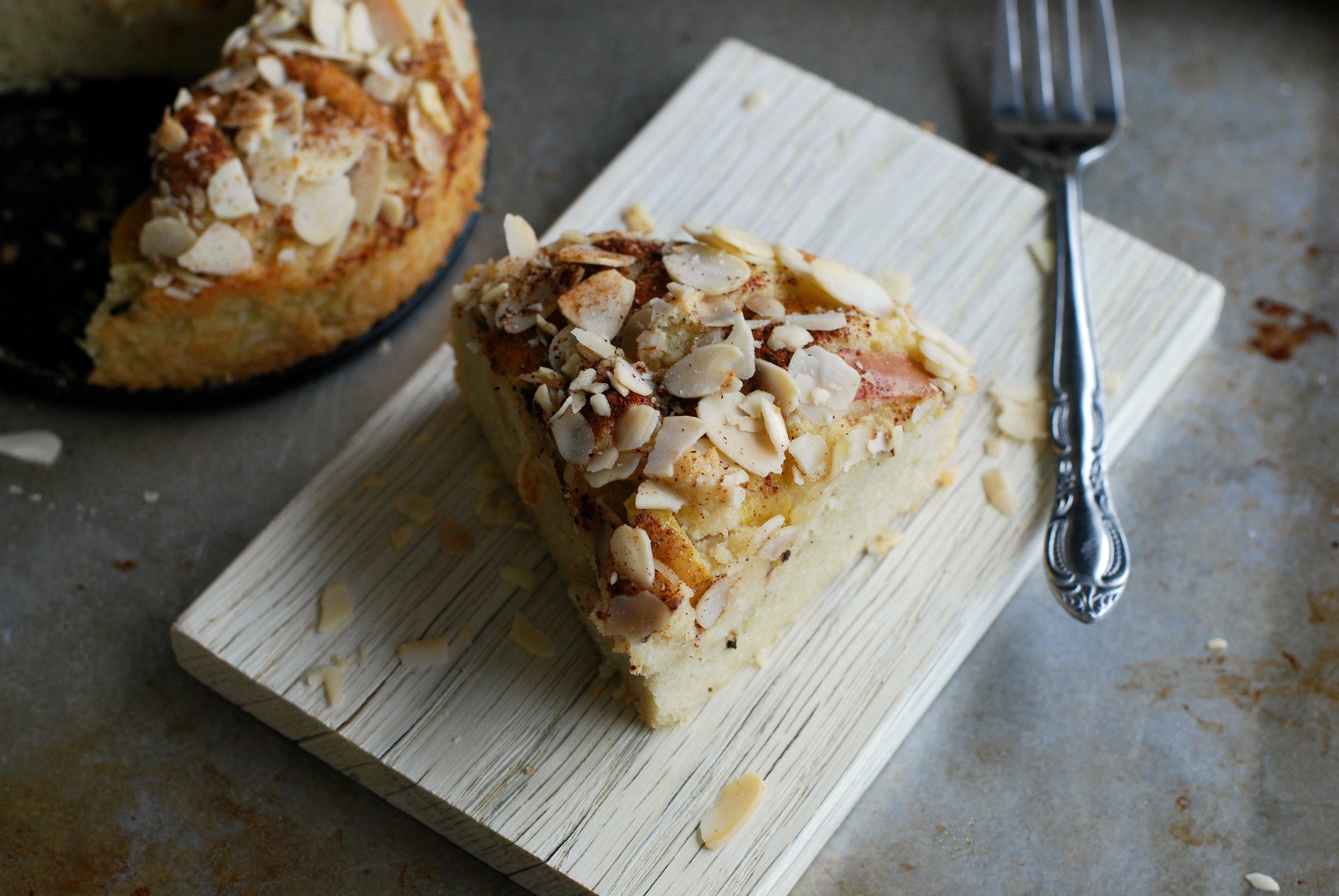 Mejerifri äppelkaka med mandel